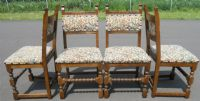 Set of Six Old Charm Oak Dining Chairs